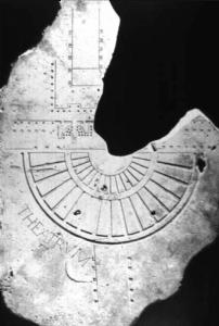 Plan du theatre de Pompée à Rome.